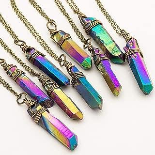 titanium aura quartz necklace