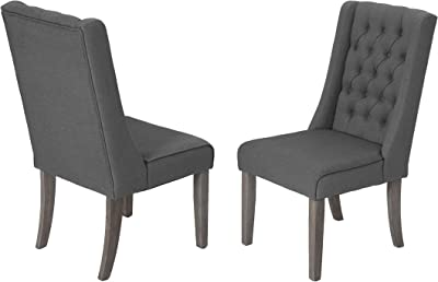 Best Quality Furniture D2-SC2 Dining Chairs (Set of 2) Gray