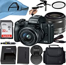 $699 » Canon EOS M50 Compact Mirrorless Digital Camera with EF-M 15-45mm is STM Zoom Lens, SanDisk 32GB Memory Card, Case, Tripod...