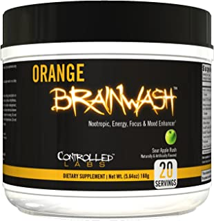 Sponsored Ad - Controlled Labs, Orange Brainwash, 20 Serv (Sour Apple)