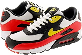 [ナイキ] AIR MAX 90 ESSENTIAL WHITE/CHROME YELLOW/BLACK/BRIGHT CRIMSON [並行輸入品]