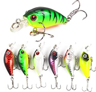 6pcs Fishing Crank Lures Swimbait Crankbait Hard Baits Jigs Combo for Bass Trout Freshwater Saltwater Topwater Shallow Dee...