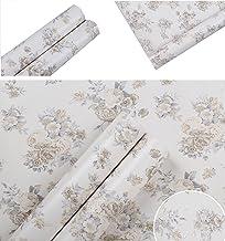 Diseño de flores de Vintage Contacto Papel Vinilo autoadhesivo cajón estante maletero extraíble papel pintado para armario de cocina, Backsplash, manualidades y para pared