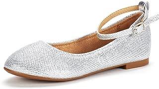 DREAM PAIRS Toddler/Little Kid/Big Kid Sole-Fina-K Girl's Ballerina Flat Shoes