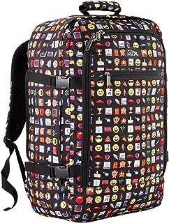 Cabin Max Metz Backpack Flight Approved Carry on Bag 44 Liter - 21'' X 14'' X 9'' (Emoji)