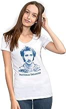 National Treasure Funny Graphic Screen Printed Crewneck T-Shirt for Women