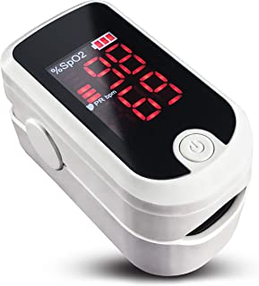 Nolan Care Pulse Oximeter - USA Stock - Oxygen Saturation Monitor with Fast and Accurate Heart Rate Monitor, Portable Fingertip Pulse Ox with Lanyard and Batteries