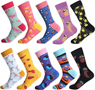Men's Fun Dress Socks - Colorful Funny Novelty Crazy Crew Socks Packs with Cool Argyle Pattern