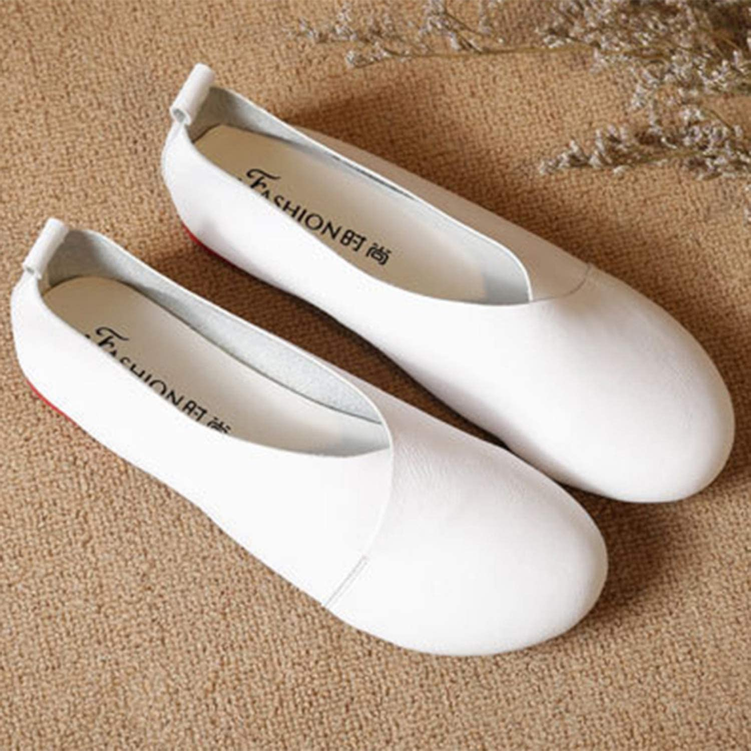 Welcometoo 2019 Genuine Leather Flat shoes Woman Hand-Sewn Leather Loafers Cowhide Flexible Spring Casual shoes Women Flats Women shoes