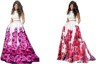 Florence Women's silk Dress Material (GC025-GC026_ White_ Free)