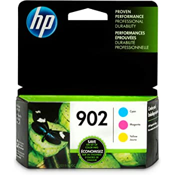 HP 902 | 3 Ink Cartridges | Cyan, Magenta, Yellow | T6L86AN, T6L90AN, T6L94AN (T0A38AN#140)