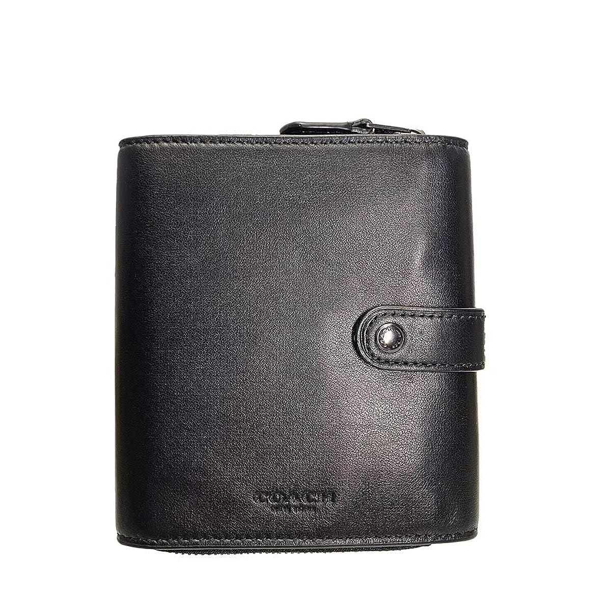 変形ながら救出コーチ 財布 メンズ レディース COACH 折り財布 レザー オーガナイザー ウォレット F34868 QB/BK ブラック