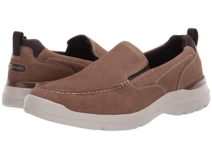 Rockport  City Edge Slip-On (Taupe Nubuck) Mens Shoes