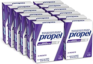 Propel Powder Packets Grape With Electrolytes, Vitamins and No Sugar (120 Count)