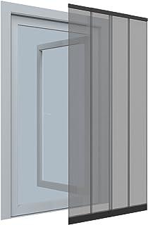 EASY LIFE Rideau moustiquaire à lamelles pour Portes Flex 100 x 220 cm Anthracite - Moustiquaire avec Cadre à Fonction tél...