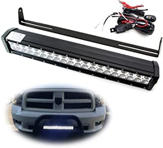 iJDMTOY 20-Inch 120W LED Light Bar Kit Universal Fit For Truck SUV Jeep 4x4 ATV etc. Includes (1) High Power Double Row LED Light Bar, Cradle Mount U-Bracket & On/Off Switch Wiring Kit