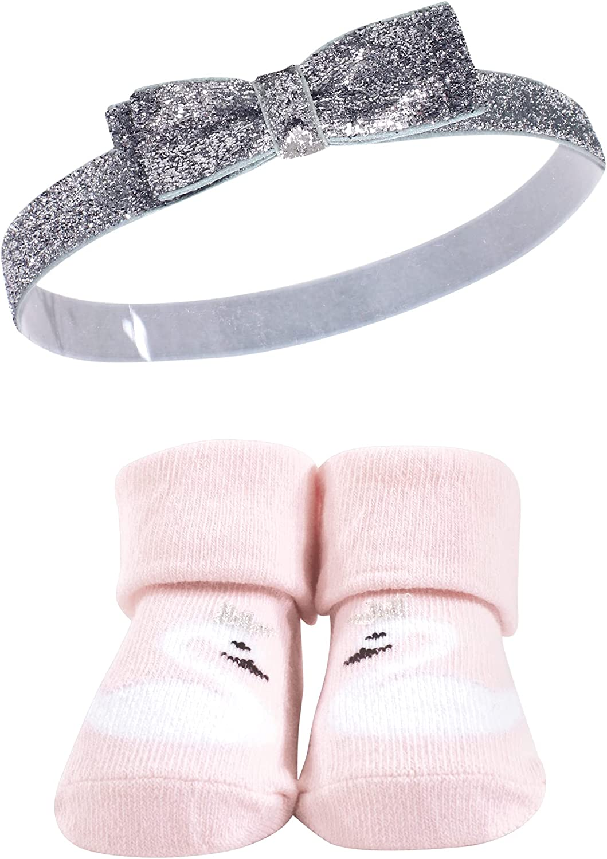 Hudson Baby Girl's Headband and Socks Giftset