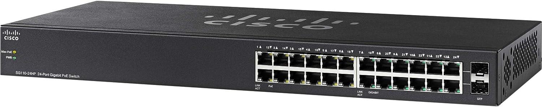Cisco SG110-24HP 24-Port Gigabit PoE Switch (SG110-24HP-NA) (Renewed)