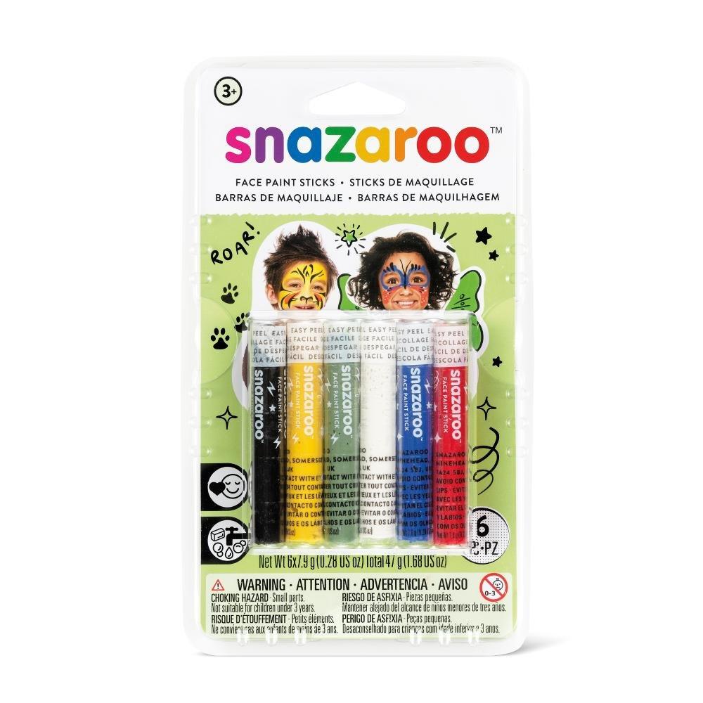 Snazaroo - Set de 6 barras de pintura facial, arcoíris: Amazon.es: Belleza