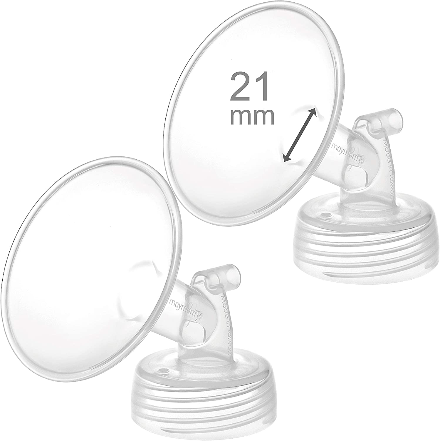 2X 21 mm Maymom Wide Neck Pump Parts for Spectra S1//S2 Pumps; Incl Wide Mouth Flanges; Not Original Spectra Flange; Replaces Spectra Shield 21 mm Small Spectra Flange