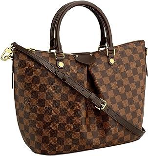 Louis Vuitton Damier Canvas Siena PM Crossbody Shoulder Handbag N41545 Made in France