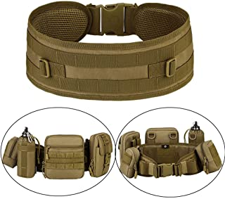 MOLLE Tactical Belts Patrol MOLLE Belt with Mesh Lining for Shooting Airsoft Wargame Paintball Hunting