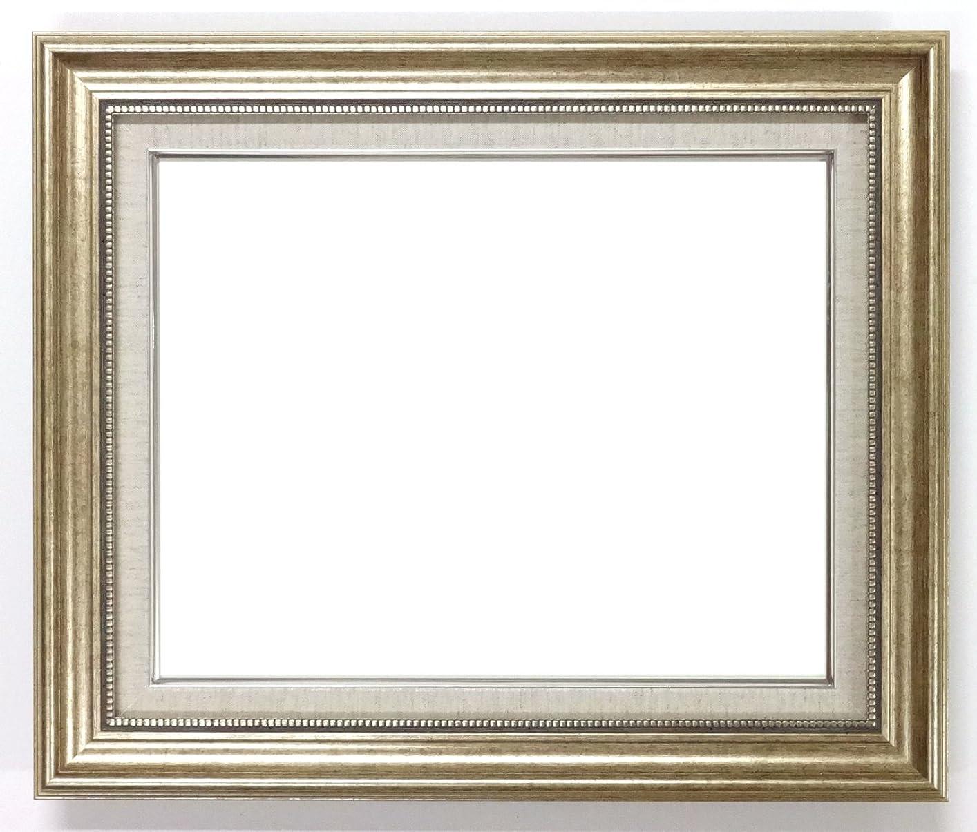 カウンタテクニカル絶対の大額 油彩用額縁 8111 アクリル仕様 壁用フック付 (F6, シルバー)