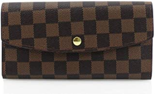 Ladies Fashion Checked Purse Women's Folded Magdot Closure Wallet Card Holder