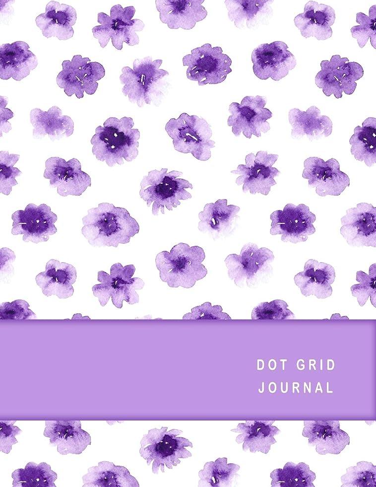 粒市区町村ドライバDot Grid Journal: Pretty Purple Watercolor Daisy Flowers Cover Personal Notebook Journal. 8.5 x 11 Size 210 Numbered Pages 203 Dot Grid Pages