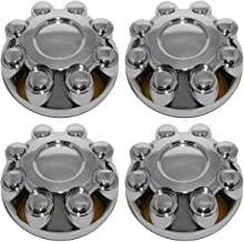 BB Auto Set of 4 NEW 8 Lug Chrome Wheel Center Caps Covers Replacement for 2003-2013 DODGE RAM 1500 2500 3500 Truck