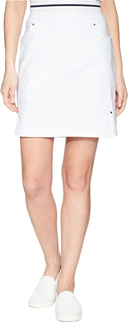"Stretch Bengaline 19"" Pull-On Skort"