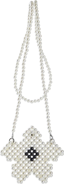 YUSHINY Acrylic Beaded Star Shaped Lipstick Evening Shoulder Bag with Detachable Chain