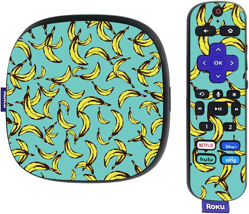 MightySkins Skin Compatible with Roku Ultra HDR 4K Streaming Media Player (2020) - Bananas | Protective, Durable, and Unique Vinyl Decal wrap Cover | Easy to Apply and Change Styles | Made in The USA