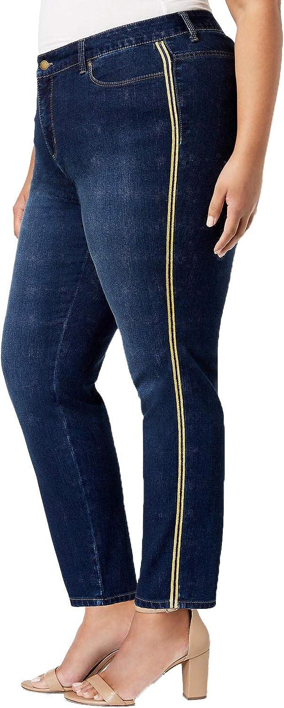 Charter Club Plus Size VarsityStripe TummyControl Jeans