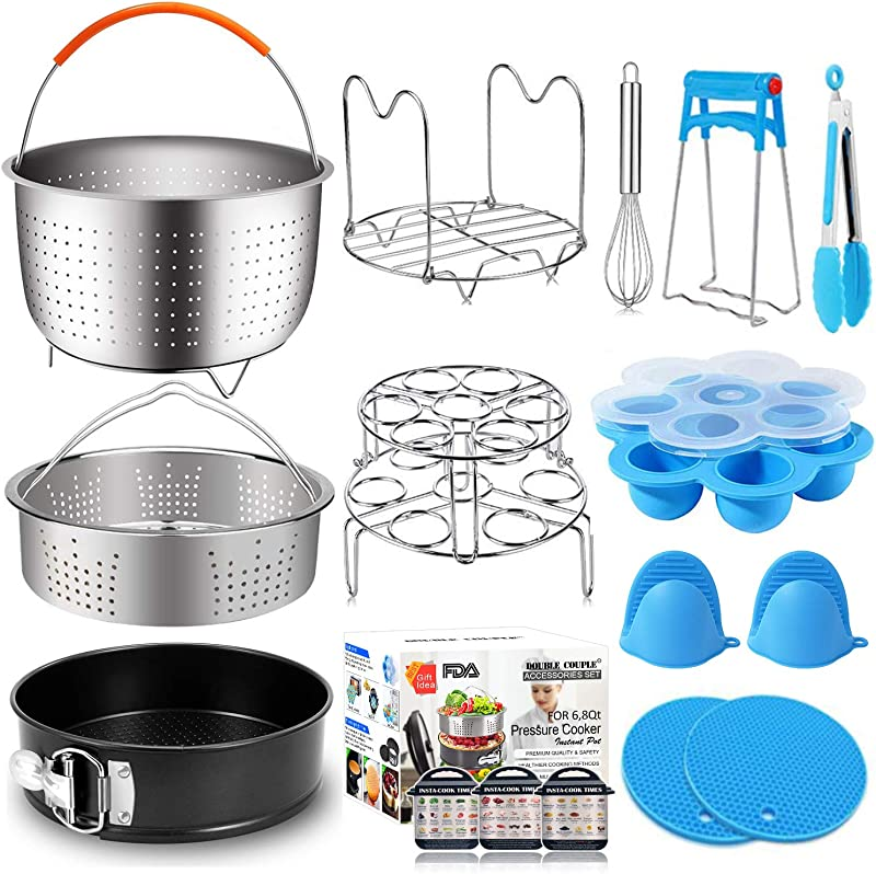 17 Pcs Instant Pot Accessories 6 8 Qt Pressure Cooker Accessories Steamer Basket Springform Pan Silicone Egg Bites Molds Egg Steamer Rack