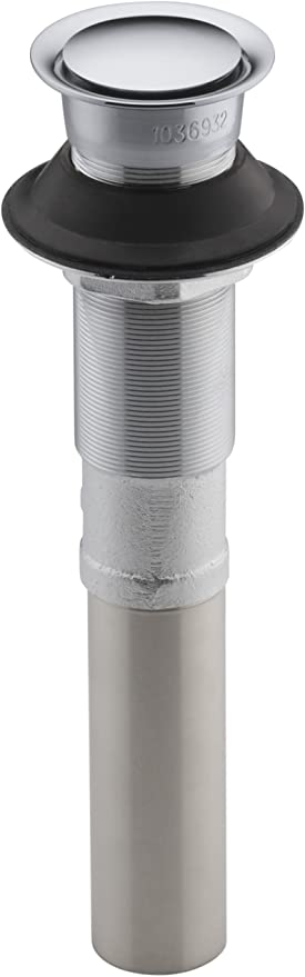 Kohler K 7124 Cp Pop Up Clicker Drain Polished Chrome Bathroom Sink Drains Amazon Com