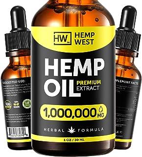 Hеmp Oil for Skin, Hair, Nails Health - Pure Extract Natural Oil Formula - Omega 3, 6, 9 Oil - Immunе System Optimizer - P...