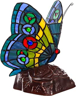 Lámpara de estilo Tiffany con forma de gato, pez, caballo, mariposa, decoración de estilo Tiffany