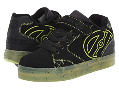 Heelys Vopel X2 (Little Kid/Big Kid) (Black/Lime/Speckle) Boys Shoes