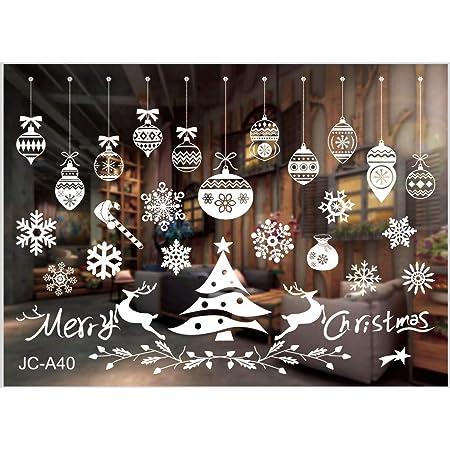 heekpek Fensterbild Weihnachten Fensteraufkleber PVC Fensterbilder Weihnachten Fensterdeko Selbstklebend Fensterfolie Weihnachtsdekoration deko Weihnachten