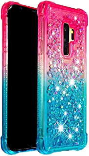 Grandcase Galaxy S9+ Case,Soft TPU Flashing Flowing Liquid Floating Anti Drop Scratch Resistant Shock Absorbing Cover for ...