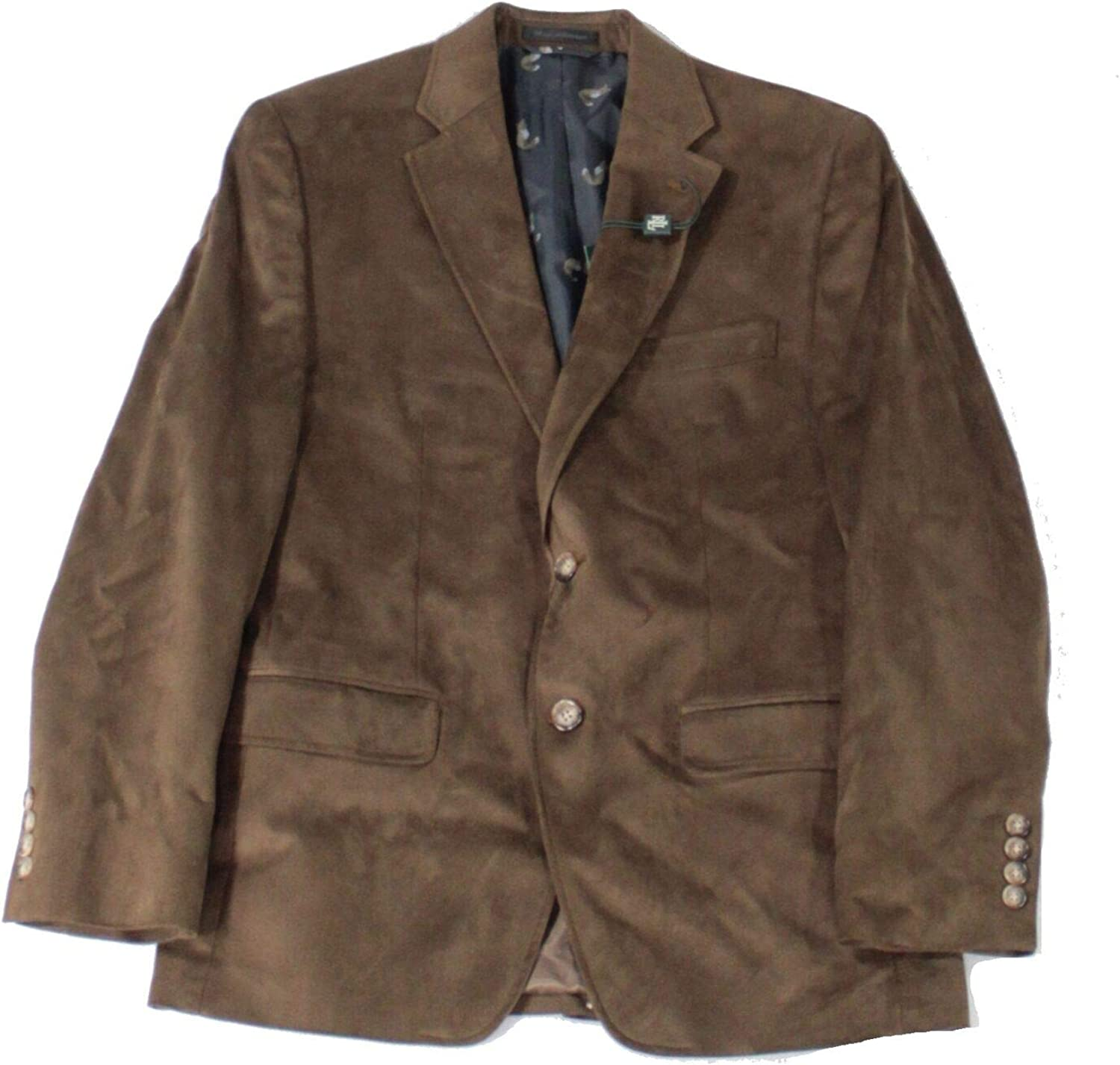 Lauren by Ralph Mens Ranking TOP7 Sport Limited price sale Brown Faux-Suede Coat 40