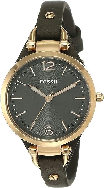 TALLA talla única. Fossil ES3077 - Reloj de pulsera, color gris, tamaño