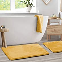 "Clara Clark Memory Foam Bathrug 2 Pack Set - Camel Gold - Bath Mat and Shower Rug Large 20"" x 32"" Inches, Non Slip Latex F..."