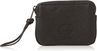 Herschel Unisex-Adult Oxford Pouch Leather RFID Wallet, Black Pebbled - 10367