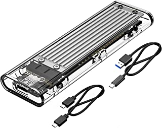 ORICO Transparent NVMe M.2 Enclosure Tool-Free USB3.1 Type-C Gen2 10Gbps to M.2 SSD Enclosure for Intel 660p/Samsung 970 E...