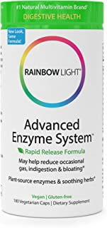Rainbow Light Advanced Enzyme System - Plant-Sourced Whole Food Enzyme Supplement, Supports Nutrient Absorption and Digestive Health; Vegan and Gluten-Free - 180 vCaps