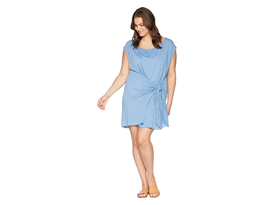 BECCA by Rebecca Virtue Plus Size Breezy Basics Dress Cover-Up (Steel) Women