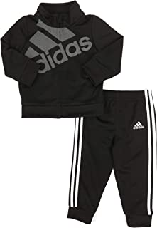adidas Baby Girls' Tricot Zip Jacket and Pant Set (Black 001, 6 Month)