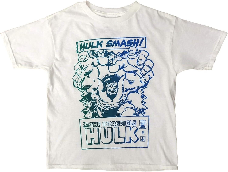 Mad Engine The Incredible Hulk Boys White Short Sleeve Smash Tee Shirt T-Shirt